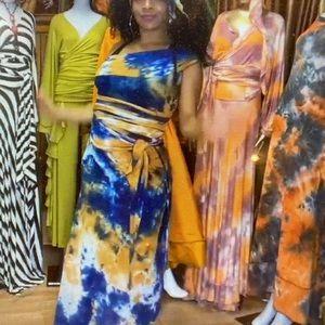 The Dye Wrap Dress